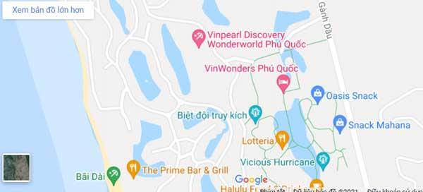 bản đồ chỉ đường vinwonders phú quốc