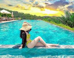 Resort phú quốc có bãi biển riêng, có bể bơi
