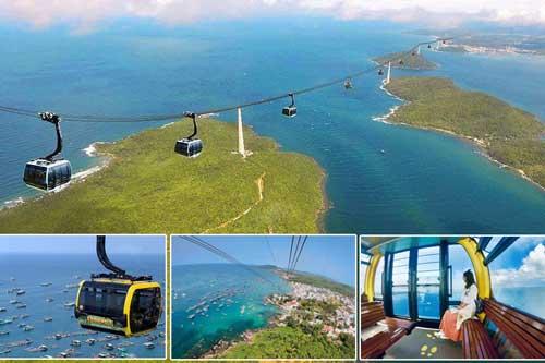 cáp treo hòn thơm, cáp 3 dây vượt biển dài nhất thế giới