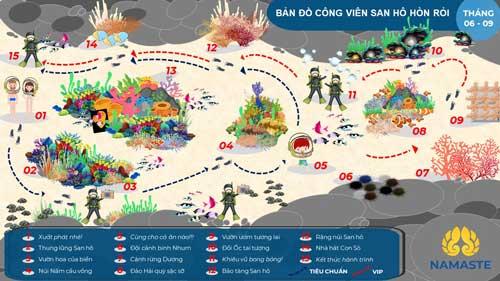 sơ đồ công viên san hô phú quốc
